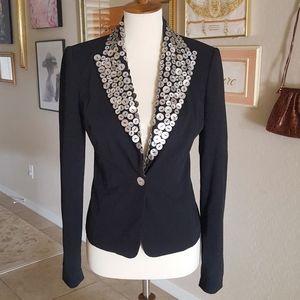 Cache' - Abalone Shell Button Collar Blazer